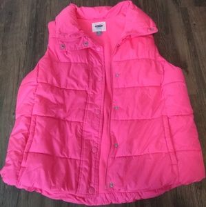 XL pre-owned Old Navy Hot pink puffer vest